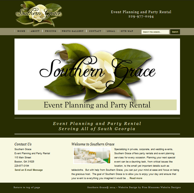 Southern Grace, Event Planning and Party Rental, Boston, GA & South Georgia